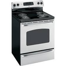 Ge Electric Cooktops Ge Electric Range 30 In Jbp35smss Sears