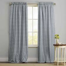 Blue Buffalo Check Curtains Bright Buffalo Check Valance Yellow Beige Curtains