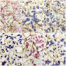 real petals biodegradable delphinium wedding confetti dried ivory flutter fall