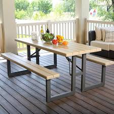 lifetime foldable picnic table lifetime 8 seater 6ft 1 8m folding w frame picnic table in within