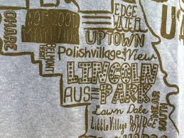 Chicago Neighborhood Map Poster by Old Navy Chicago T Shirt Takes A Few Liberties With Neighborhoods