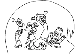 inside out cast coloring pages coloringpagesville