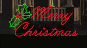 merry script led in merry light up sign