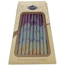 chanukah candles and green israeli hanukkah candles 45 pack