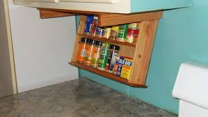 Kitchen Cabinet Spice Organizers by Simple Kitchen Design With Under Cabinet Mounted Spice Rack And