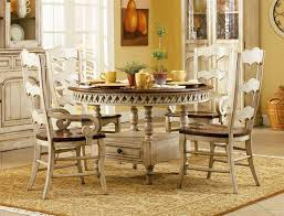 Dining Room Set With Buffet Summerglen 5 Piece Round Dining Table With Three Rung Ladderback