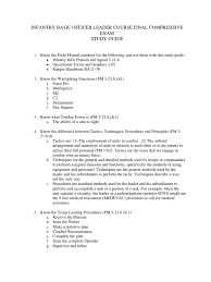 ibolc final study guide doc 1 infantry command and control