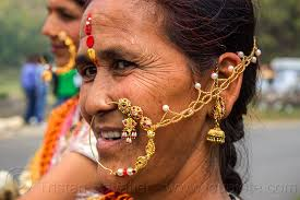 hindu nose ring indian woman with large nose ring jewelry