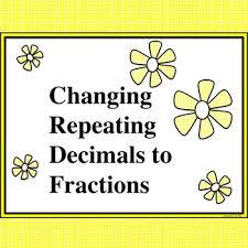 8 ns 1 converting repeating decimals and matching equations