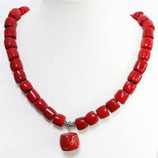 red chain necklace images Buy new fashion natural red coral irregular 11 jpg