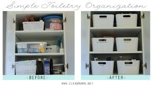 simple toiletry organization clean mama
