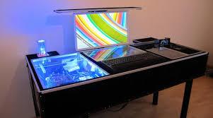 Computertisch Flatlift Im Computertisch Selbstbau Projekt Eines Kunden Monitor