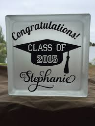 graduation glass block by homemadeinloveland on etsy cricut