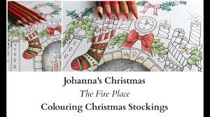 johanna u0027s christmas fire place colouring christmas
