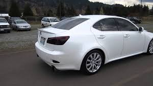 lexus stock rims 2008 lexus is250 white stock h2082 walk around youtube