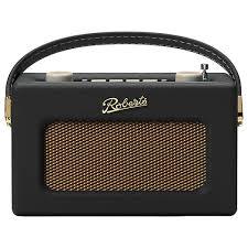 roberts revival radio with alarm black 159 95 john lewis