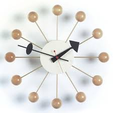 Horloge Murale Cuisine Design by Ball Clock Nelson Horloge Murale Vitra Ambientedirect Com