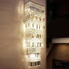 Vertical Wall Sconce 30cm 90cm Penthouse Vertical Crystal Lamp Led Tall Wall Sconce