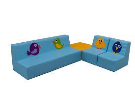 canapé enfants ensemble canapés en mousse pour enfants motif petits oiseaux cet