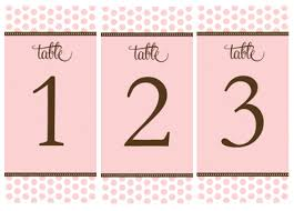 free table number templates free table numbers candy buffet signs i do it yourself