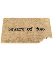 Coir Doormat Wipe Your Paws Beware Of Dog Mat Trendy Durable Funny Coir Doormat Gift For