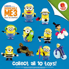 despicable 3 minions mcdo happy meals collections pskmc
