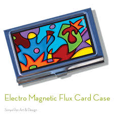 Modern Business Card Case Business Card Case Electro Magnetic Flux Sonya Paz Art U0026 Design
