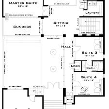 astonishing floor plan of modern family house contemporary best