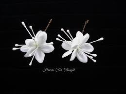 Stephanotis Flower Bride Hairpins White Wedding Flower Hair Accessory Stephanotis