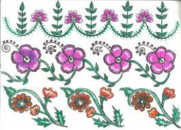 Bed Sheet Designs For Fabric Paint Fabric Painting Designs For Saree Border