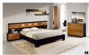 dark brown wooden single bed with mocha bed sheet on beige fur rug