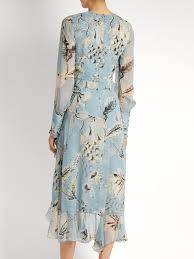 erdem meg silk voile dress womens light blue clothing dresses
