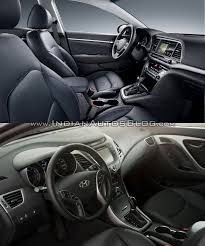 hyundai elantra model 2016 hyundai elantra vs model interior indian autos