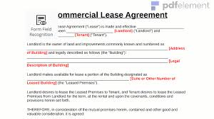 land lease agreement template commercial lease agreement template free create fill