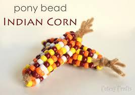 thanksgiving craft pony bead indian corn cutesy crafts
