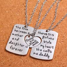 aliexpress necklace pendants images The love between a mother and daughter is forever necklace jpg