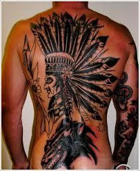 fresh native american pride tattoos on back real photo pictures