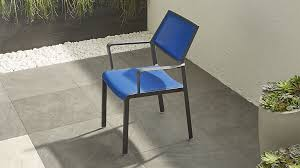 Crate And Barrel Office Chair Largo Blue Mesh Dining Chair Crate And Barrel