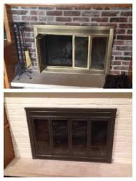 Diy Fireplace Cover Up How To Spray Paint A Brass Fireplace Spray Painting Sprays And