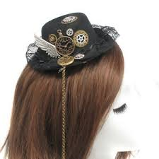 lace headwear vintage steunk gear wing lace hat hair clip
