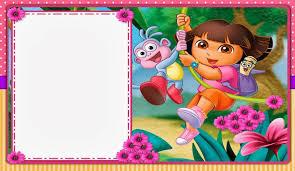 dora invitation card paperinvite