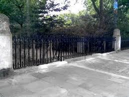 cast iron ornamental gates railings darwin centre entrance