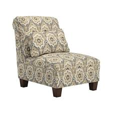 Armless Accent Chair Emelen Chenille Armless Accent Chair In Straw 4560046