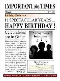 funny happy birthday newspaper