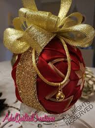 quilted ball christmas ornament satin quilted christmas ball ada