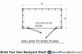 shed floor plan 4x8 lean to shed plans