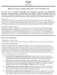 resume exles for executives resume sle 15 manufacturing and operations executive resume