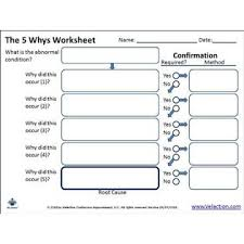 Velaction Continuous Improvement Root Cause Analysis And The 5 Whys 5 Whys Form