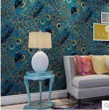 peacock home decor wholesale peacock wallpaper roll luxury wall paper photo wallpapers 3d for