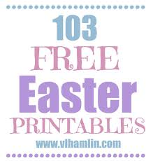 103 free easter printables food life design